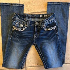 Miss Me Jeans 27 Slim Boot 33 Inch Inseam EUC NEW